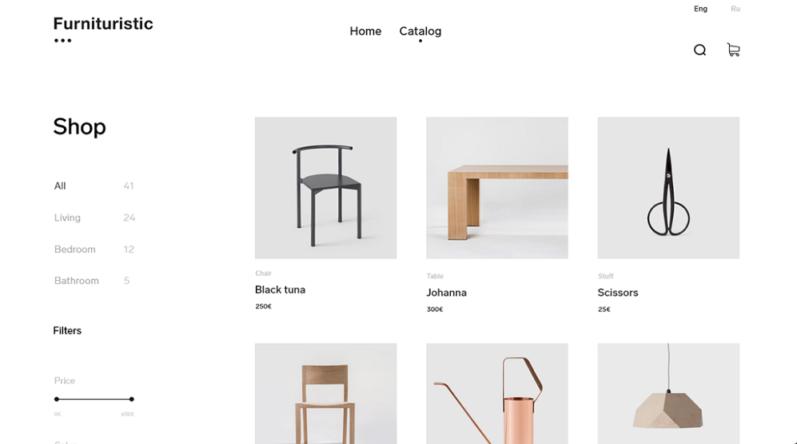 веб дизайн минимализм