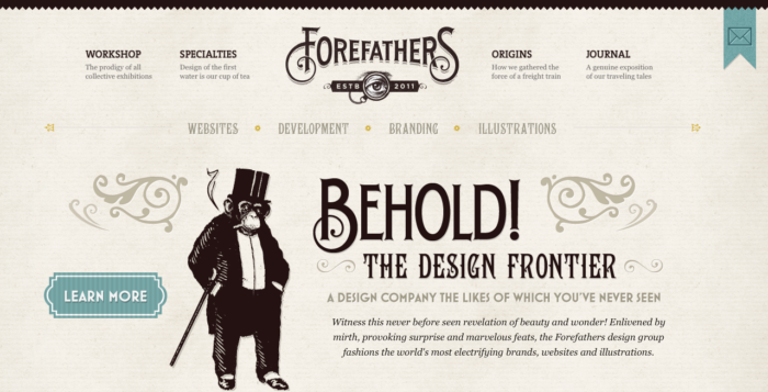 веб дизайн винтаж